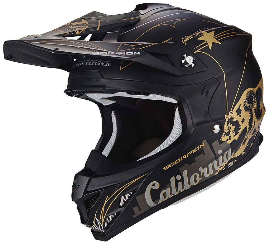 CASCO CROSS SCORPION VX15 EVO AIR GOLDENSTATE