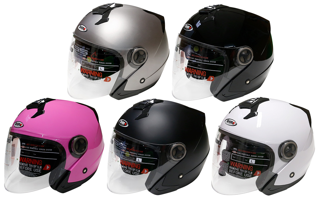 CASQUE JET SHIRO SH-326 MONOCOLOR