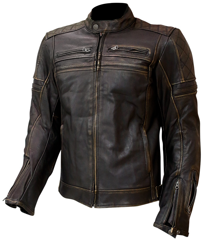 GIACCA CAFE RACER OUT STUART LEATHER