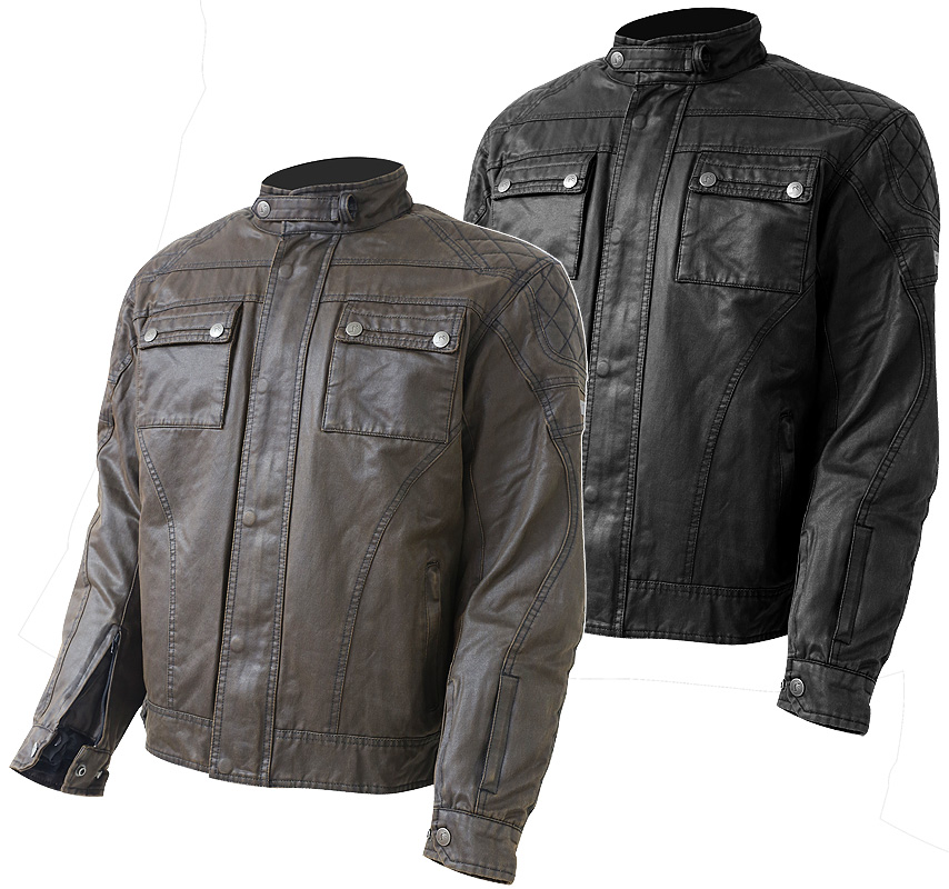 JAQUETA CAFE RACER OUT WYATT (WAXED COTTON)