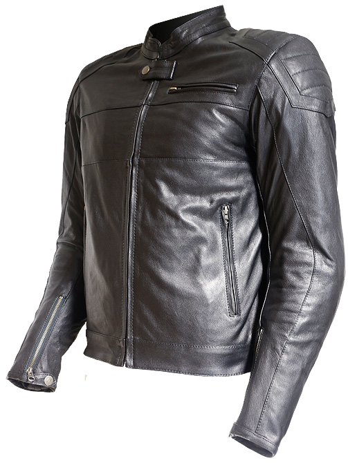 50aa49617be2 Out Indy Leather Cafe Racer Jacket