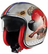 JET PREMIER VINTAGE PIN UP OLD STYLE HELMET