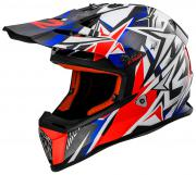 CAPACETE CROSS INFANTIL LS2 MX437 FAST MINI STRONG