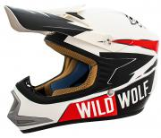 CASCO CROSS SHIRO MX306 WILD WOLF REPLICA KID