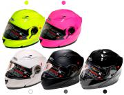 CASQUE MODULABLE SHIRO SH-529 MONOCOLOR