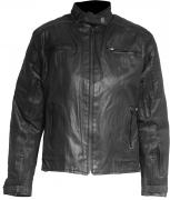 OUT KELVA LADY CAFE RACER JACKET (WAXED COTTON)