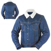 CHAQUETA OVERLAP MATHEO SMALT DENIM