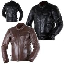 VESTE CUIR OVERLAP RAINEY