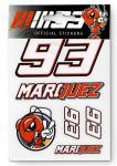 STICKERS MARC MARQUEZ 93 SMALL